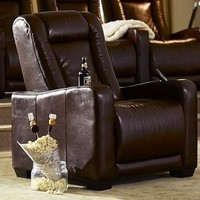 PB Home Theater Leather Recliner Armchair | Pottery Barn