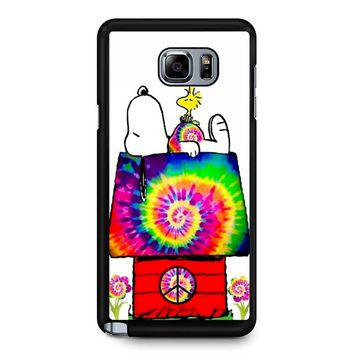 Snoopy And Woodstock Tie Dye Samsung Galaxy Note 5 Case