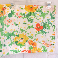 Floral Valance Daisy Valance Yellow Valance 70s Valance Green Valance Orange Valance Window Valance Bedroom Valance Kitchen Valance Retro