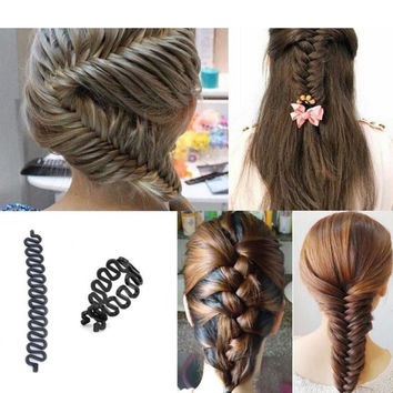 1Pcs Hair Braiding Braider Tool Head To Weave Hairstyles Hair Accessories Styling Ponytail Hair Styles For Braids Hairdressing
