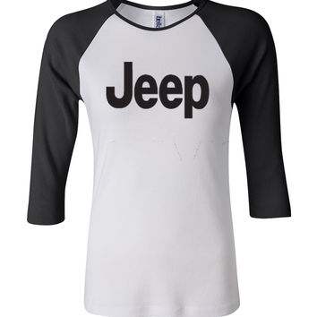 Jeep 3/4 Sleeve Baseball Ladies Jersey