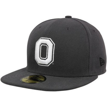 New Era Ohio State Buckeyes Victory 59FIFTY Fitted Flatbill Hat - Graphite