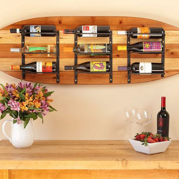 Surfboard Wine Rack