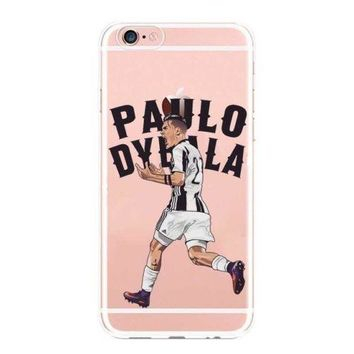 Football Legends Messi Ronaldo Soccer Cover For iPhone 5S 6 6S Plus 7 8 X Case
