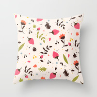 Sweet things Throw Pillow by Strawberringo