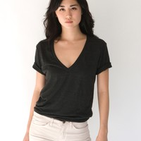 American Apparel - Unisex Tri-Blend Short Sleeve Deep V-Neck