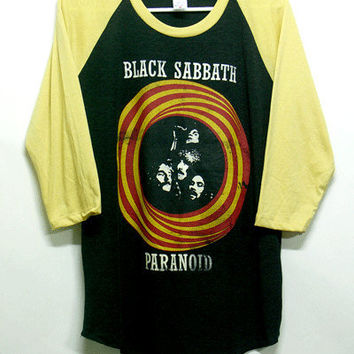 Black sabbath, Raglan tshirt, Long sleeve tee, Men ,Women tshirt, Baseball tshirt