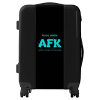 AFK Away from Keyboard Add Name and Initials Luggage