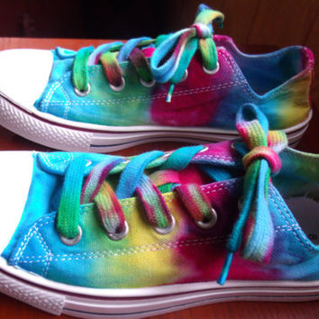 Brand New Tie Dyed Canvas Tennis Shoes-Womens Size 8