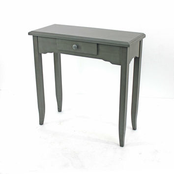 Minimalist Grey Console Table with 1 Drawer