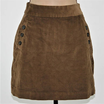 Brown Corduroy Mini Skirt Women Medium Brown Skirt Corduroy Skirt Fall Clothing Womens Skirts Size 8 Skirt Banana Republic Womens Clothing