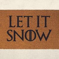 Let is Snow – Television Series Inspired Doormat  – Welcome Mat - Outdoor Rug - Home Decor, Holiday Decor, Christmas Decor, Seasonal Decor