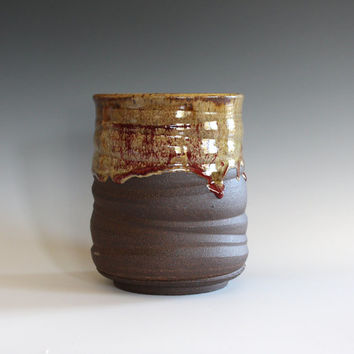 Ceramic Vase, Utensil Holder, Pottery Vase, Utensil Crock, Ceramics and Pottery, Ceramic Wine Holder