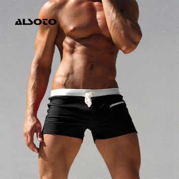 ALSOTO Sexy Swimsuit Swimwear Men	maillot de bain Mens Swim Briefs Beach Shorts Swimming Trunks Zwembroek Heren Mayo