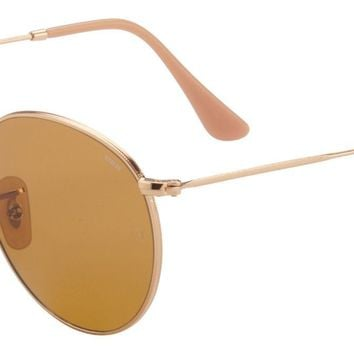 Ray-Ban Round Evolve Sunglasses RB3447 90644I Gold | Brown Photocromic Lens