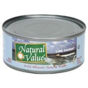 Natural Value Tuna Solid Albacore Tuna With Salt (24x6oz)