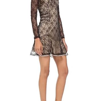 Alexander Wang Floral Lace Minidress | Nordstrom