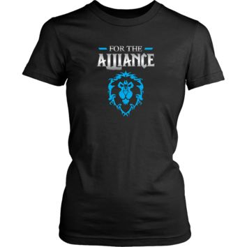 """World of Warcraft """"For the Alliance"""" Women's T-Shirt"""