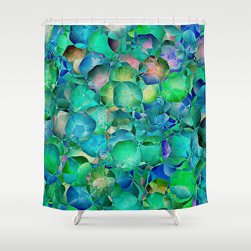 BUBBLES Shower Curtain by Catspaws