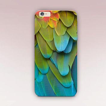 Colour Block Feathers Phone Case For- iPhone 6 Case - iPhone 5 Case - iPhone 4 Case - Samsung S4 Case - iPhone 5C -  Matte Case - Tough Case