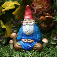 Zen Gnome  Buddha Gnome Meditating in the by PhenomeGNOME on Etsy