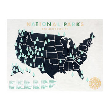 National Parks Sticker Map | Road Trip Ideas