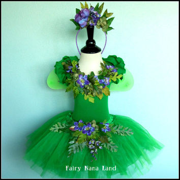 FALL WOODLAND fairy with monarch butterfly wings - Children's size 4/6 - Halloween Costume