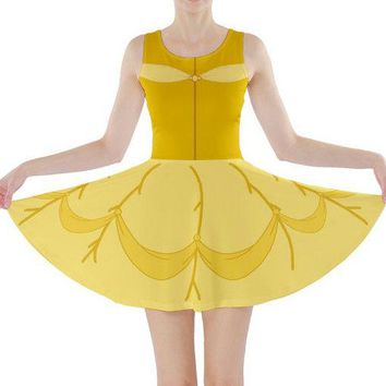 Adult Beauty and the Beast Belle Inspired Skater Dress