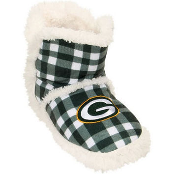 Green Bay Packers NFL Flannel Sherpa Boots