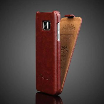 Vintage Mobile Cases For Samsung Galaxy S7 Case Leather Flip Cover Fundas Coque Crazy Horse Skin Phone Accessories