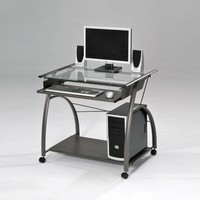 Vincent Computer Desk, Pewter