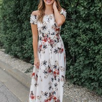 Sunspell Maxi Dress - Off White