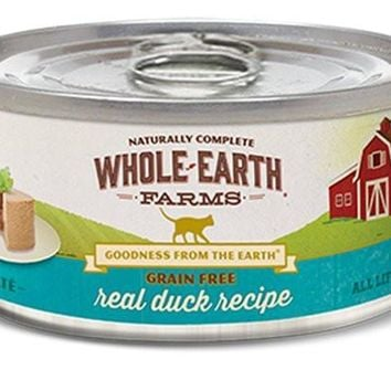Whole Earth Duck Can Cat Food 24/2.75oz