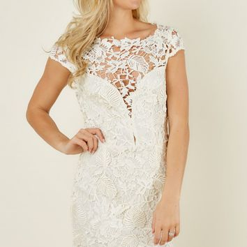 Ever After Calling Romeo Ivory Lace Dress