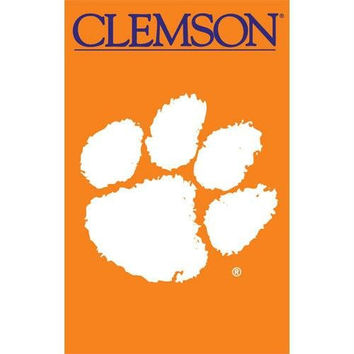 Party Animal Sports Fan NCAA Team Clemson Tigers Applique Banner Flag