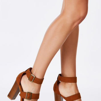 Buckle Up Heeled Sandals