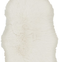 Surya Sheepskin Shag Area Rug Neutral