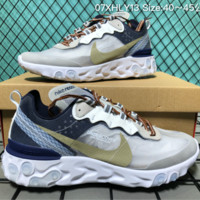 hcxx Nike Upcoming React Element 87 Undercover X Fashion Running Shoes Grey