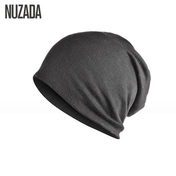 NUZADA Brand Solid Color Beanie