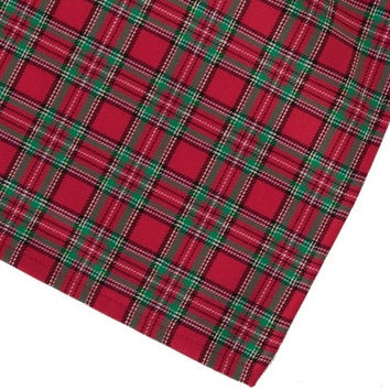 Red Green Plaid Napkin