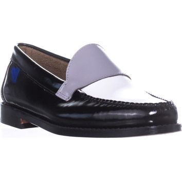 G.H. Bass & Co. Wylie Oxford Flats, Black/White/Grey, 7.5 US