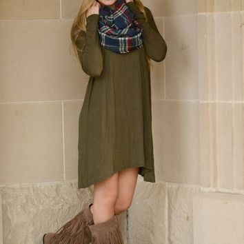 Pacey Dress in Olive