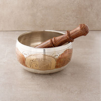 Tri-Metal Buddha Singing Bowl - 4 inch
