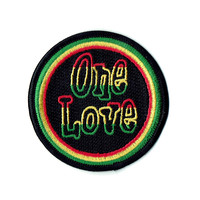 One Love Rasta Patch