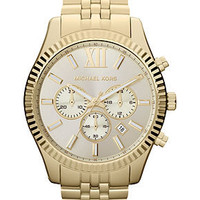 Michael Kors Watch, Men's Chronograph Lexington Gold-Tone Stainless Steel Bracelet 45mm MK8281 - All Watches - Jewelry & Watches - Macy's