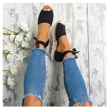 Spring/Summer Collection/Women/Girls/Baby    Jookrrix  NEW!!! Fashion Brand Espadrille Women Ankle Straps Flats