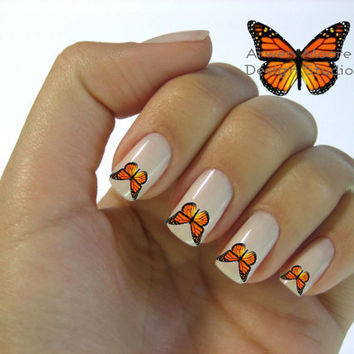 Beautiful Butterfly Nail Art Waterslide Water Decals by the4thmuse