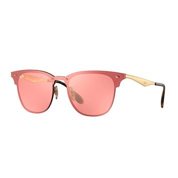 Authentic RAY-BAN 3576N - 043/E4 Sunglasses Blaze Clubmaster / Pink *NEW* 41mm
