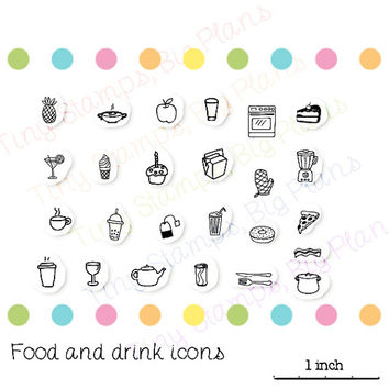Planner stamps - Food and drink icons