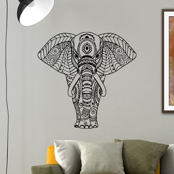 Indian elephant wall decal vinyl sticker from wisdomdecals on for Elephant wall mural